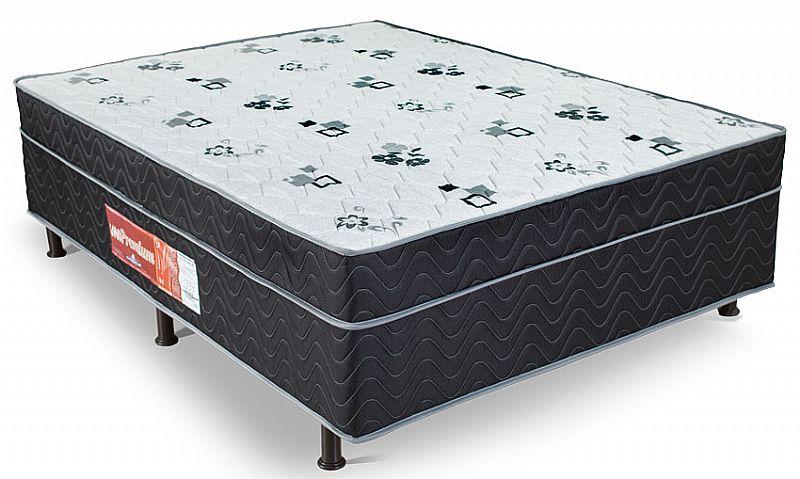 Cama box mônaco casal conjugado cama   colchao 138x188cm