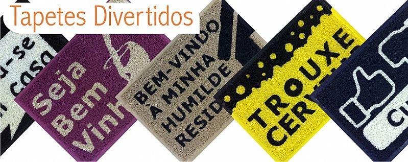 Tapetes e capachos personalizados