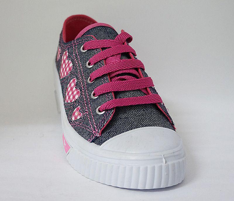Tenis infantil feminino botinho jeans e rosa
