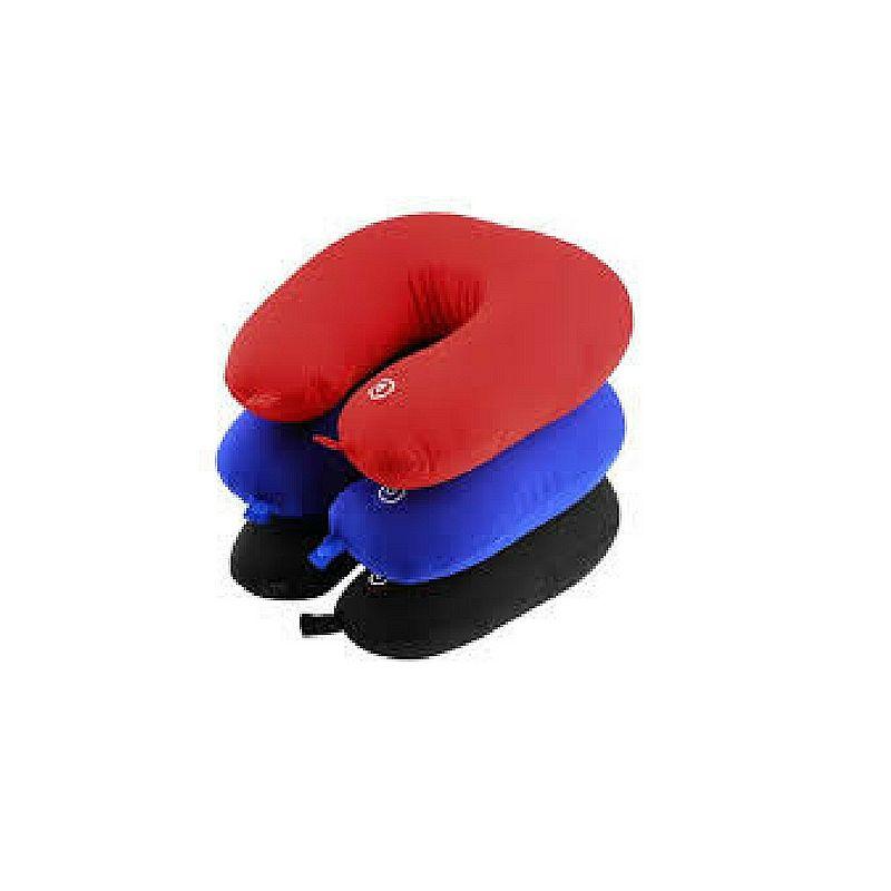 Almofada pescoco conforto vermelha preta azul promocao