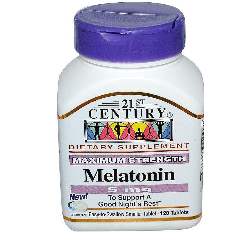 1 unid - 5 mg,  21 century,  melatonina,  120 tablets eua