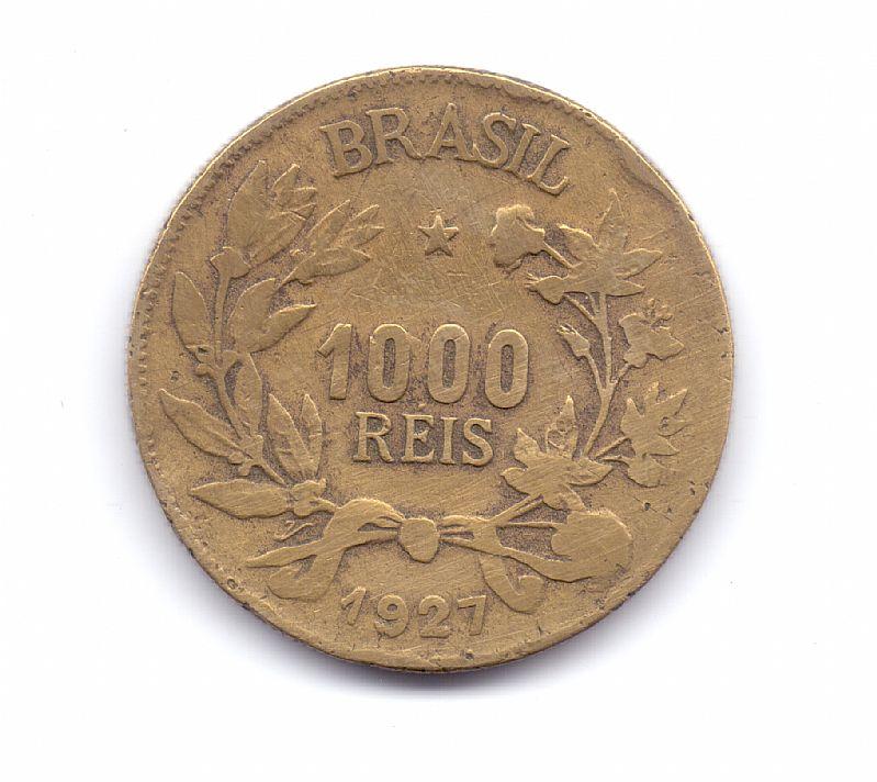 Moeda do brasil de 1000 reis de 1927.- 228 -