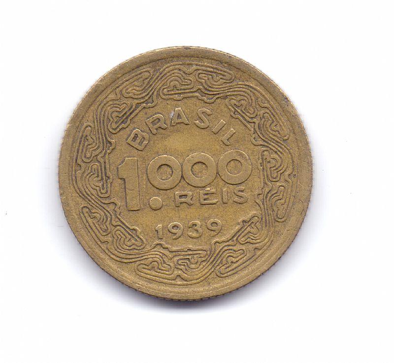 Moeda do brasil de 1000 reis de 1939.- 230 -