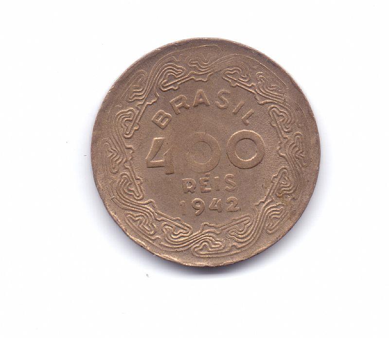 Moeda do brasil de 400 reis de 1942.- 231 -