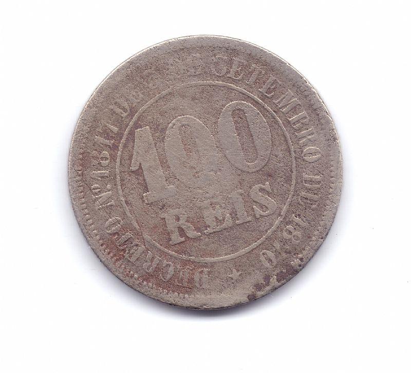 Moeda do brasil de 100 reis de 1882.- 233 -