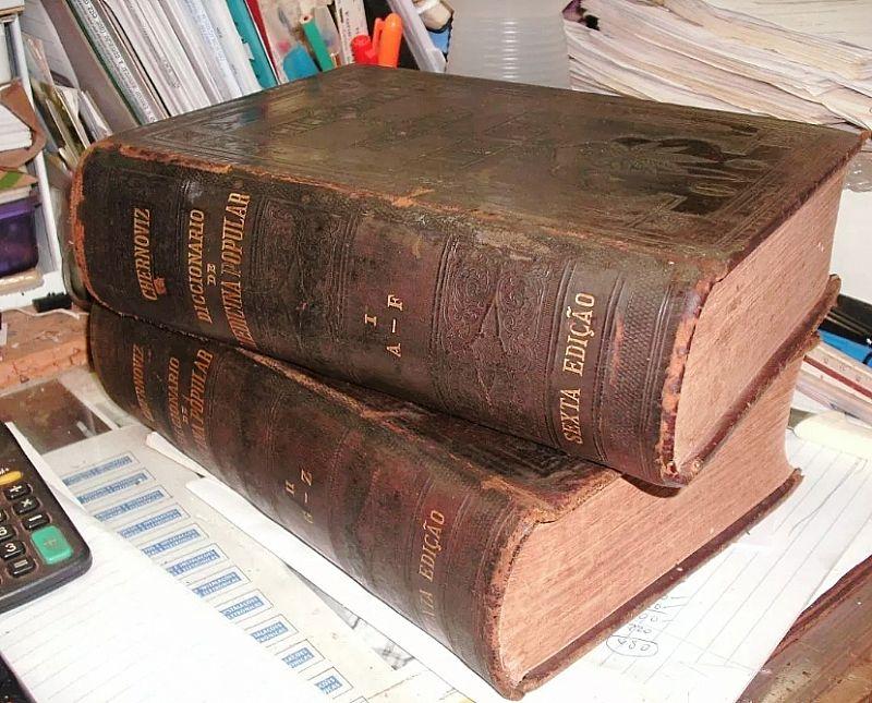 Dicionario chernoviz Medicina popular -1890 - 2 vol - Raridade