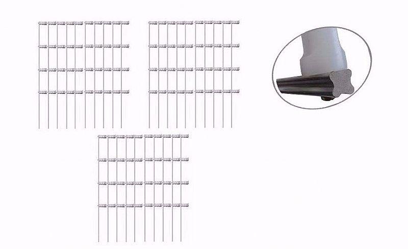 Kit 10 haste cerca eletrica ferro galvanizado 6 isolador intelbras