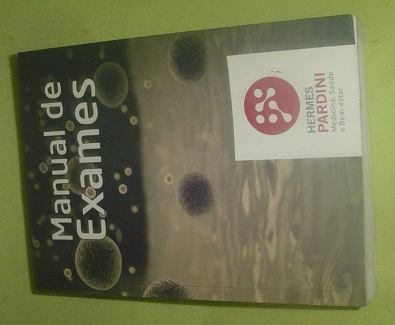 Manual de exames - hermes pardini - medicina,  saude .