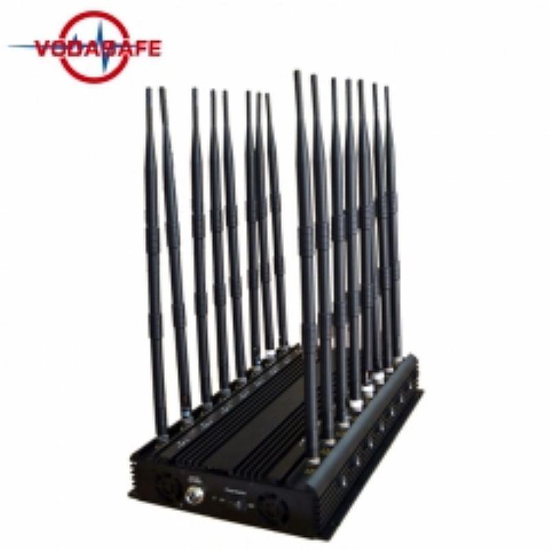 Bloqueador de celular / escutas / comunicacoes 16 antenas (base) x16 38watts