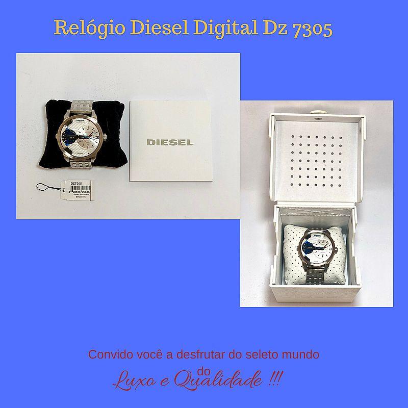 Relogio diesel digital dz 7305 original