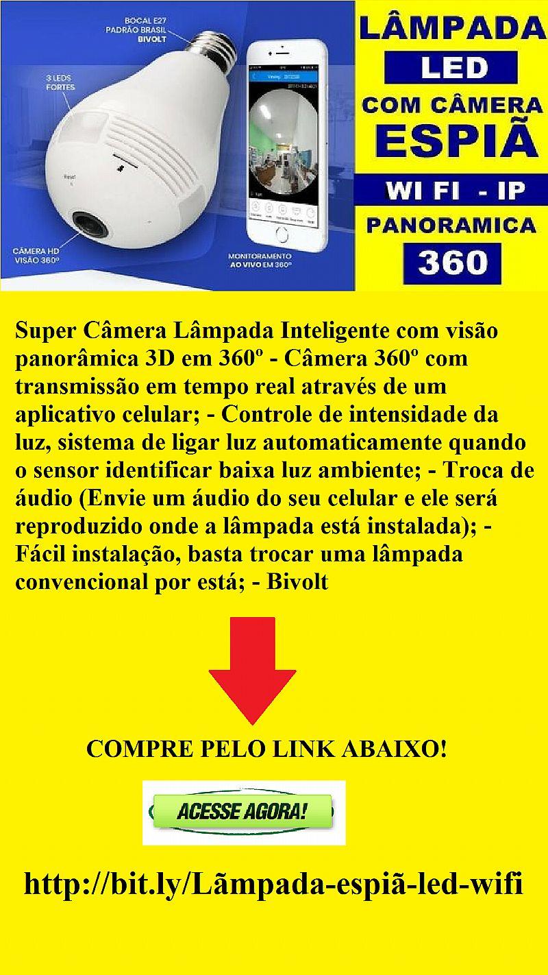 Super camera lampada 3d inteligente 360º