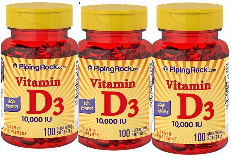 Vitamina d3 10000ui 300 softgels - promocao