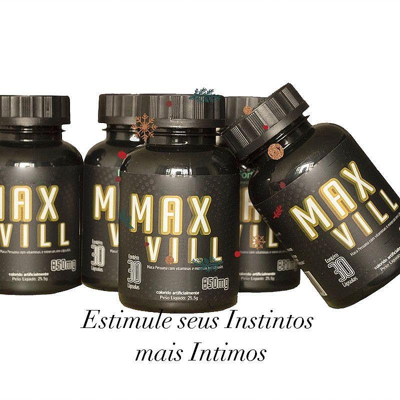 Max vill produto natural com vitaminas e minerais maca peruana