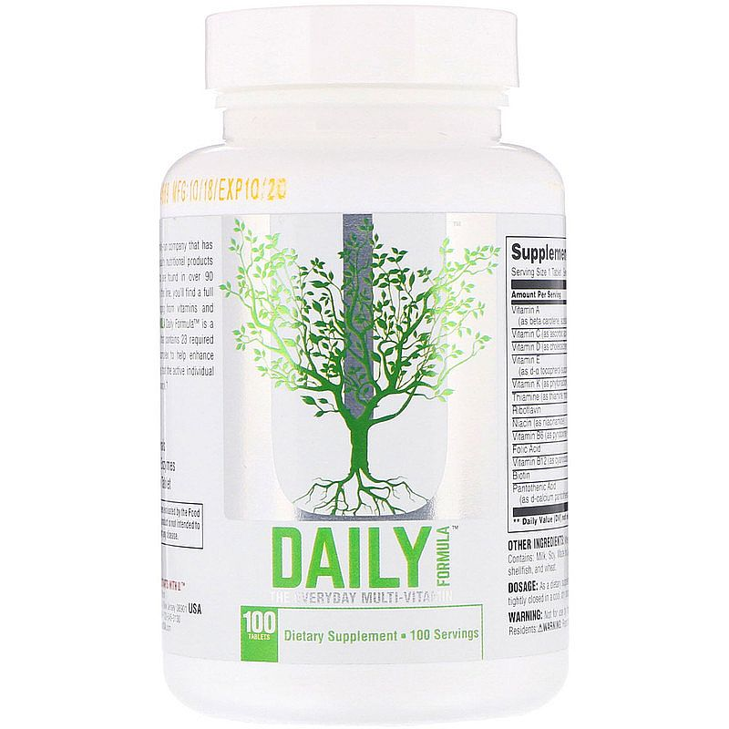 Multivitaminico daily formula universal - 100 tablets