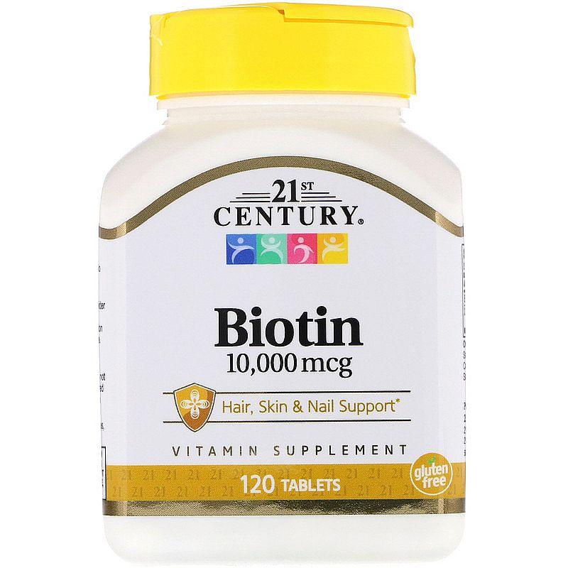 Biotina 10, 000 mcg 120 caps - cabelo saudavel e unhas fortes