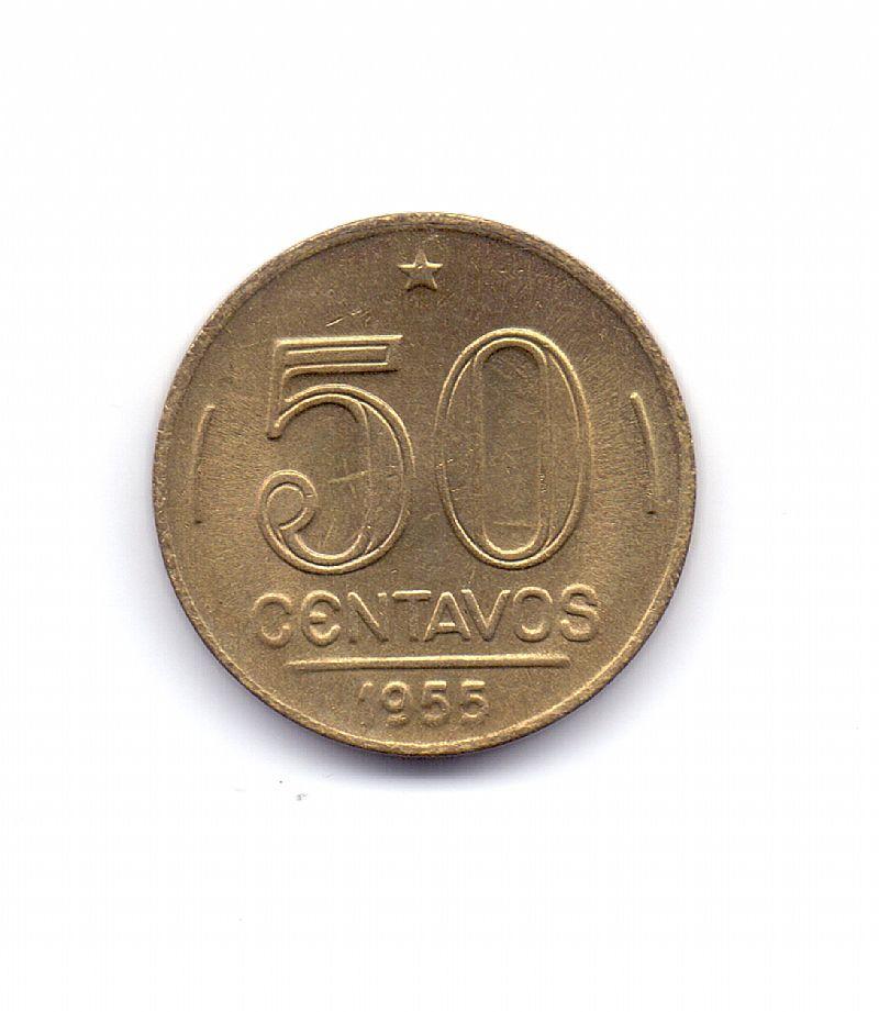 Moeda do brasil de 50 centavos de 1955.- 271 -
