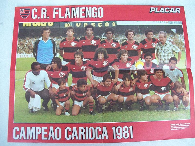 Pôster flamengo campeao carioca 1981