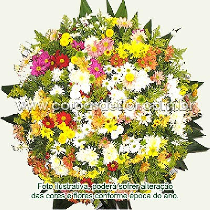Entrega de coroa de flores