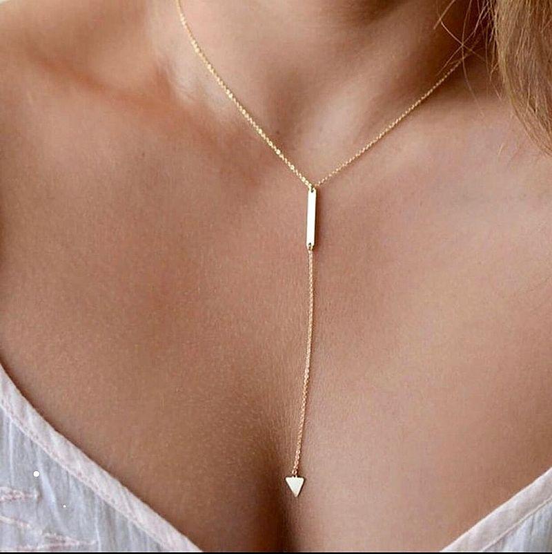 Moda liga gargantilha colares das mulheres 2018 da cor do ouro colar de cristal para as mulheres presente atacado