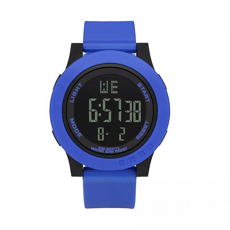 Relógio Azul Tempo zero 501 2019 nova digitalwatch homens analogico digital esporte militar led relogio de pulso de luxo à prova d água silicone frete gratis