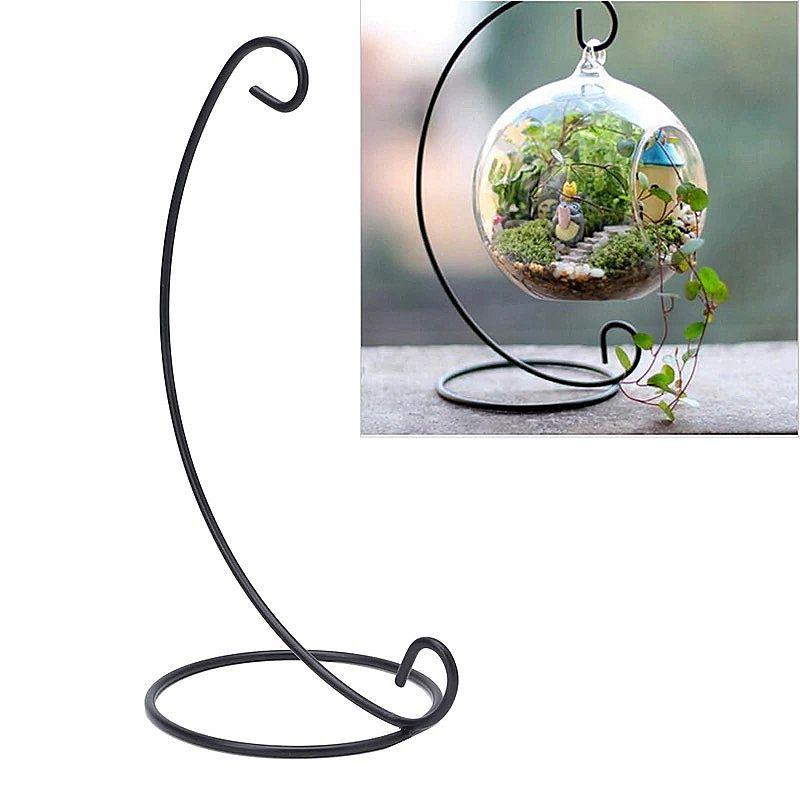 Pendurado vaso de vidro vaso de flores planta stand titular terrario container micro paisagem ecologica flor garrafa rack de gancho