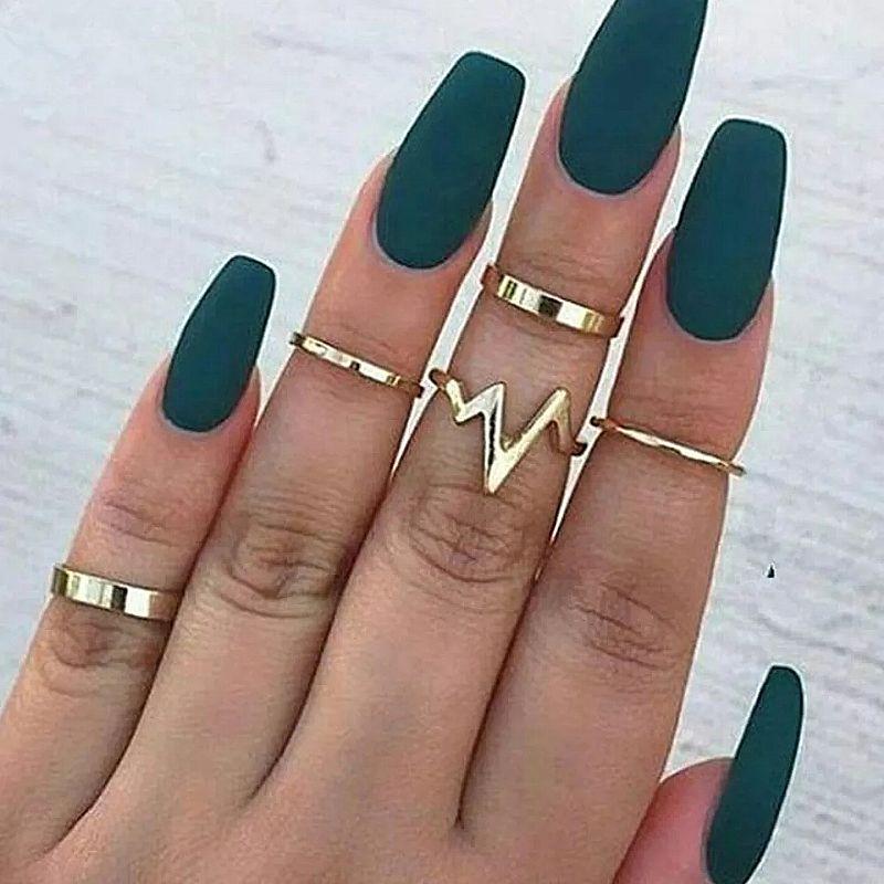 Anel Tempo zero 501 2019 novos aneis da forma das mulheres anel relampago ecg conjunto anel das mulheres liga conjunto anel liso de 5 luxo frete gratis