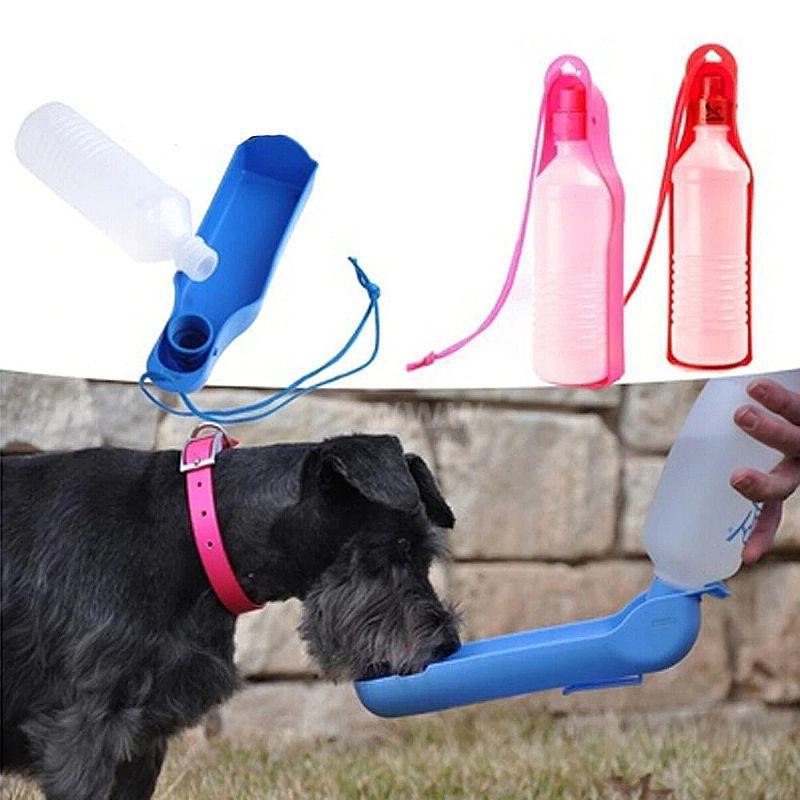 Garrafa de agua para pets 250ml portatil perfeito para passear com caes