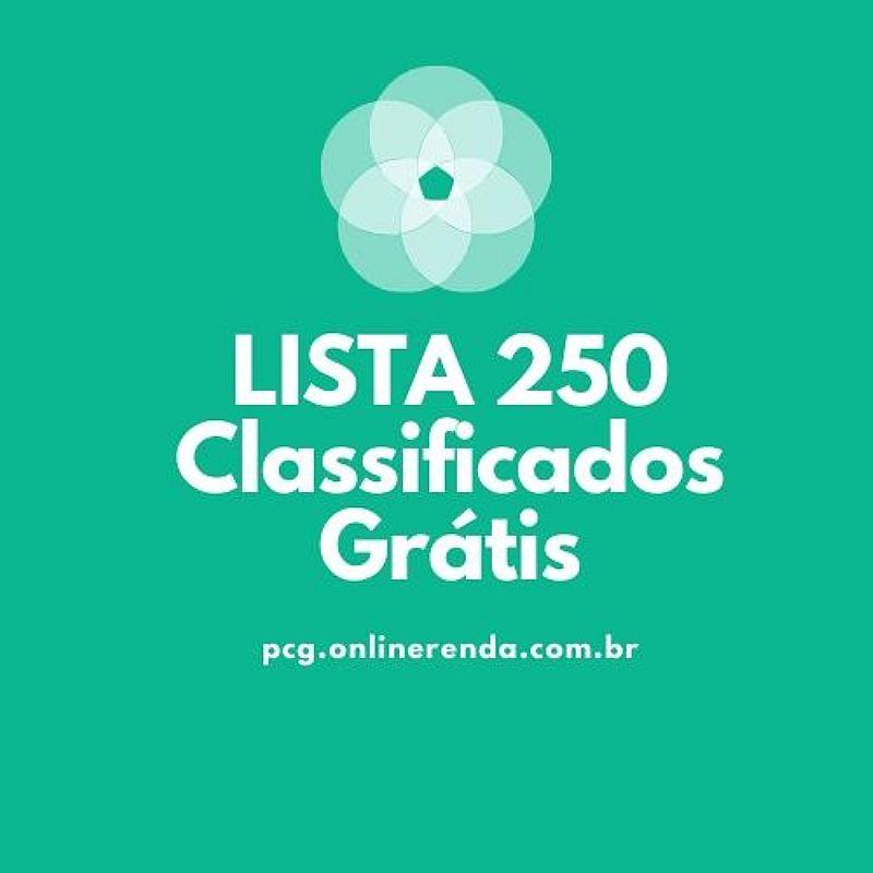 Lista com sites de classificados gratis mais de 250 sites