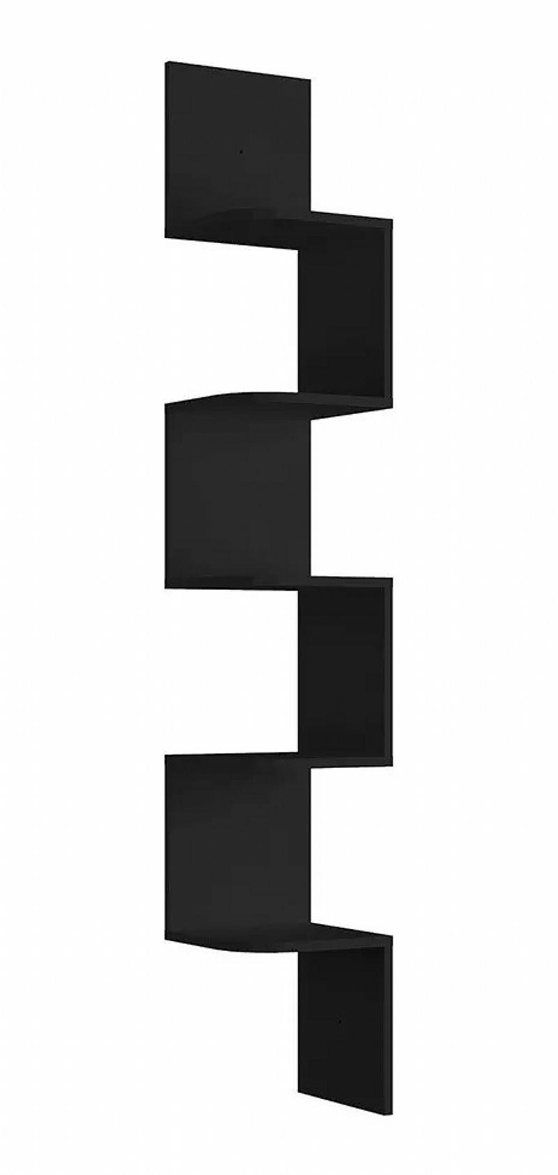 Prateleira Mosaico preta grande decorativo 158x25 preto