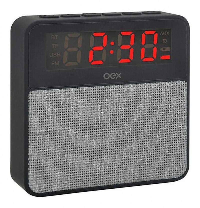 Radio relogio digital despertador bluetooth mp3 sd auxiliar