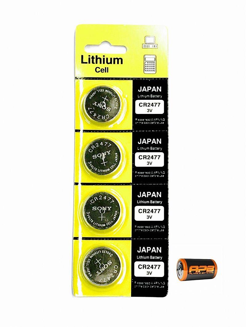 Bateria sony cr2477 - cartela com 4 unidades
