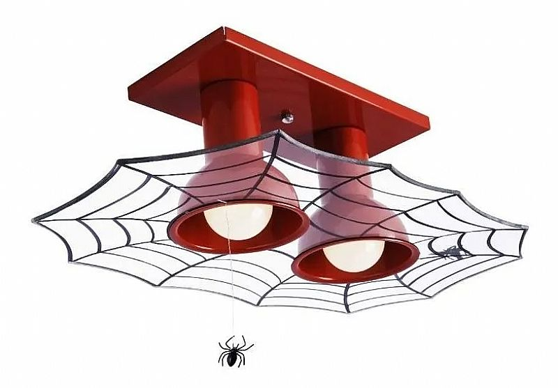 Lustre luminaria infantil para quarto de menino homem aranha marca startec modelo plafon infantil