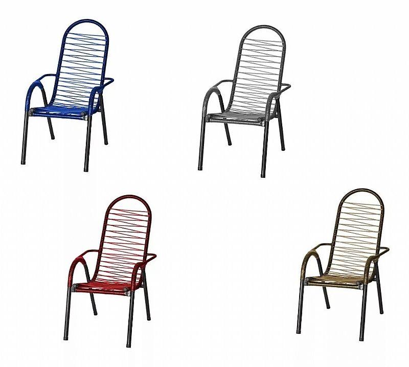 Cadeira de varanda cadeira de área cadeira de fio colorido fabricante tito marca tito