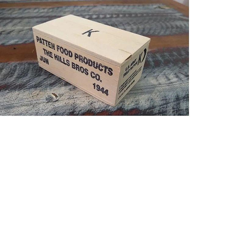 Miniatura caixa militar racao operacional escala 1:6  fabricante art in box mallet marca art in box malle