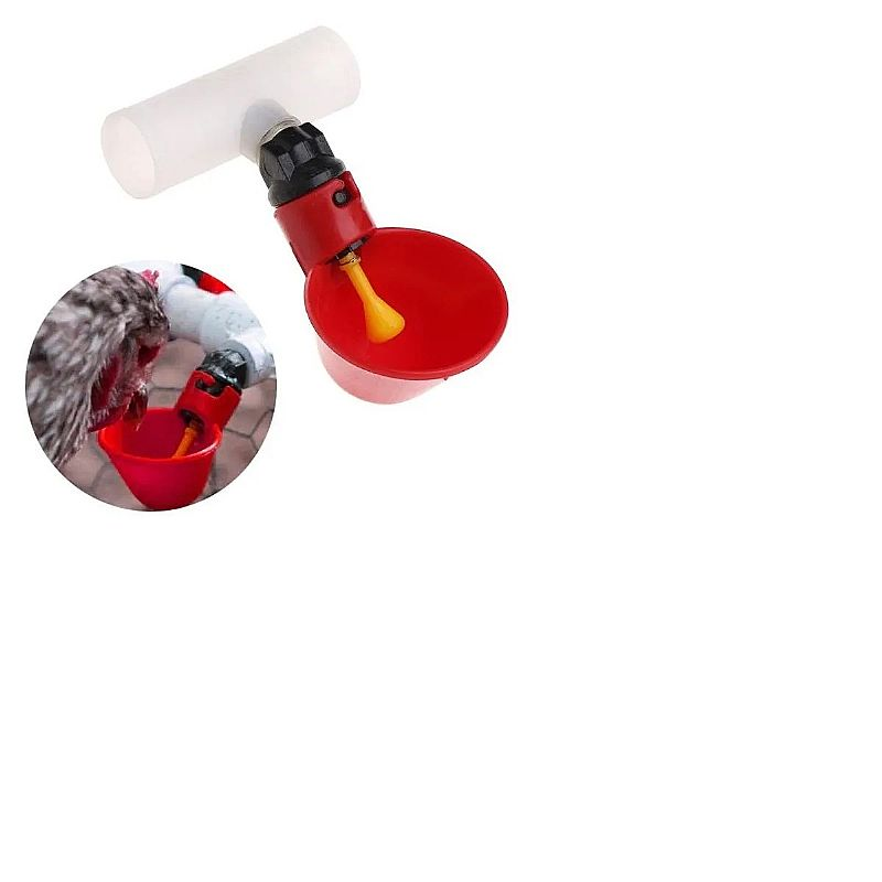 Kit 10 bebedouros automatico galinha frango codorna   t 20mm      marca adhere to fly     modelo bebedor tipo tigela para frangos