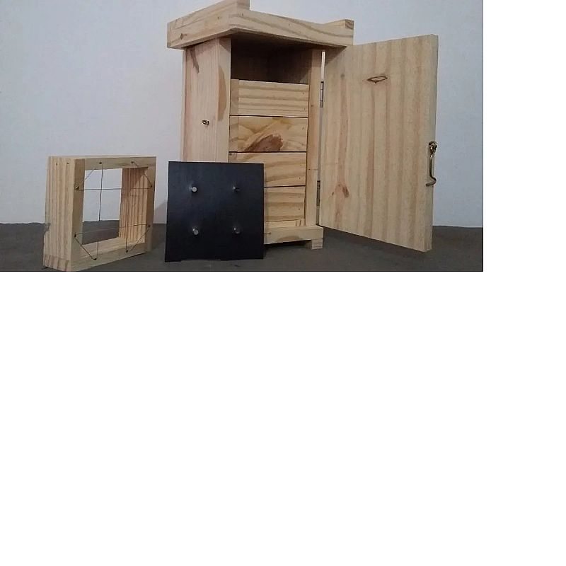 Caixa racional af para abelhas jatai       marca loja das abelhas     material madeira
