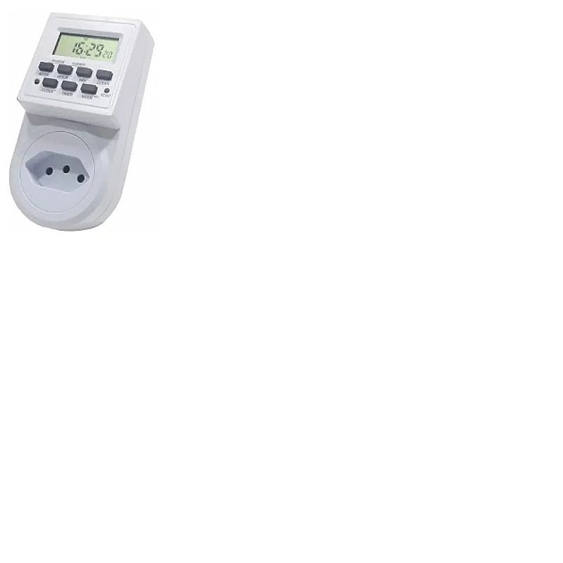 Timer digital bivolt temporizador 9 programas liga e desliga marca apspshop modelo timer de tomada
