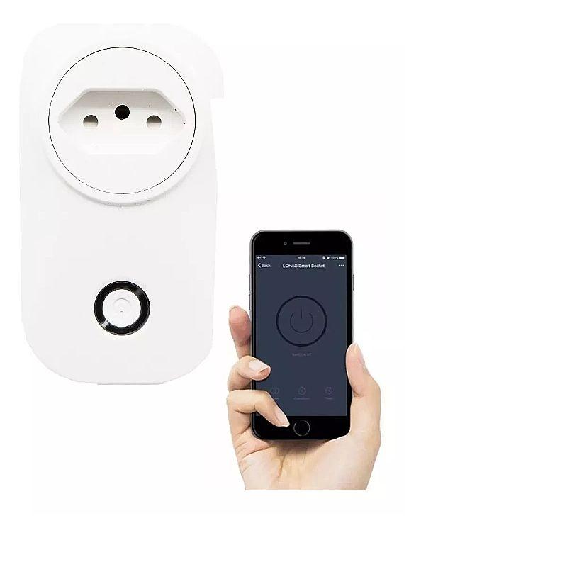 Tomada inteligente liga desliga pelo celular sem fio alexa  marca importador modelo tomada inteligente