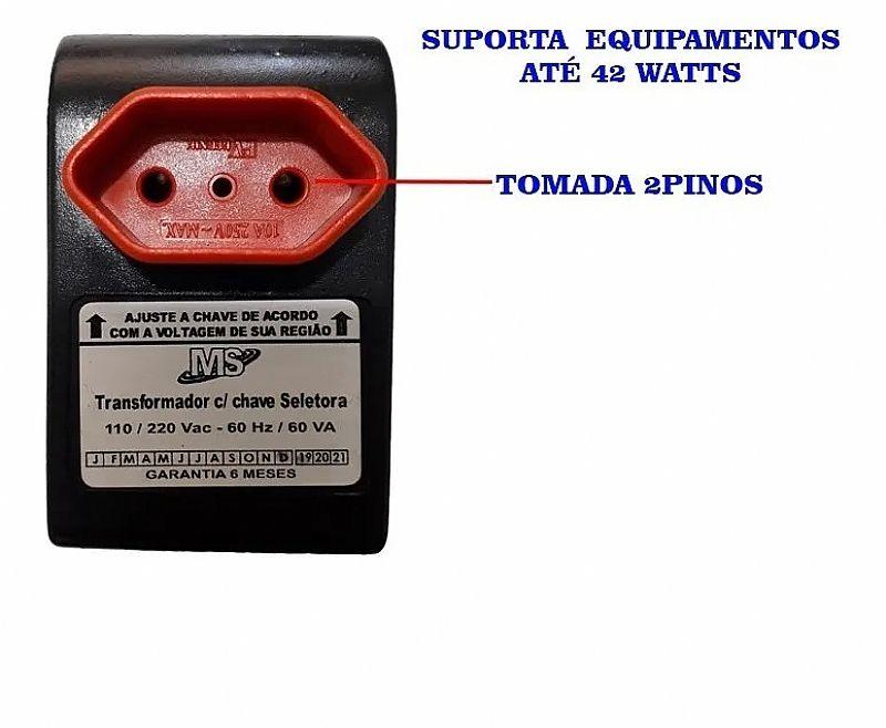 Transformador conversor de voltagem 110-220v ou 220-110v marca ms modelo atp-va-007