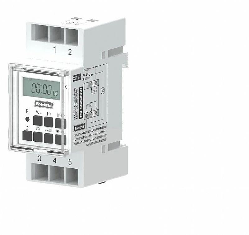 Temporizador digital para trilho din 220v - enerbras marca enerbras modelo timer