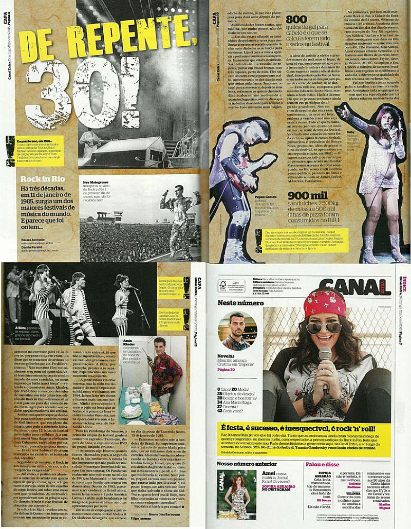 Rock in Rio 30 Anos,   Historia de Bastidores e Curiosidades,   Canal Extra nº 876