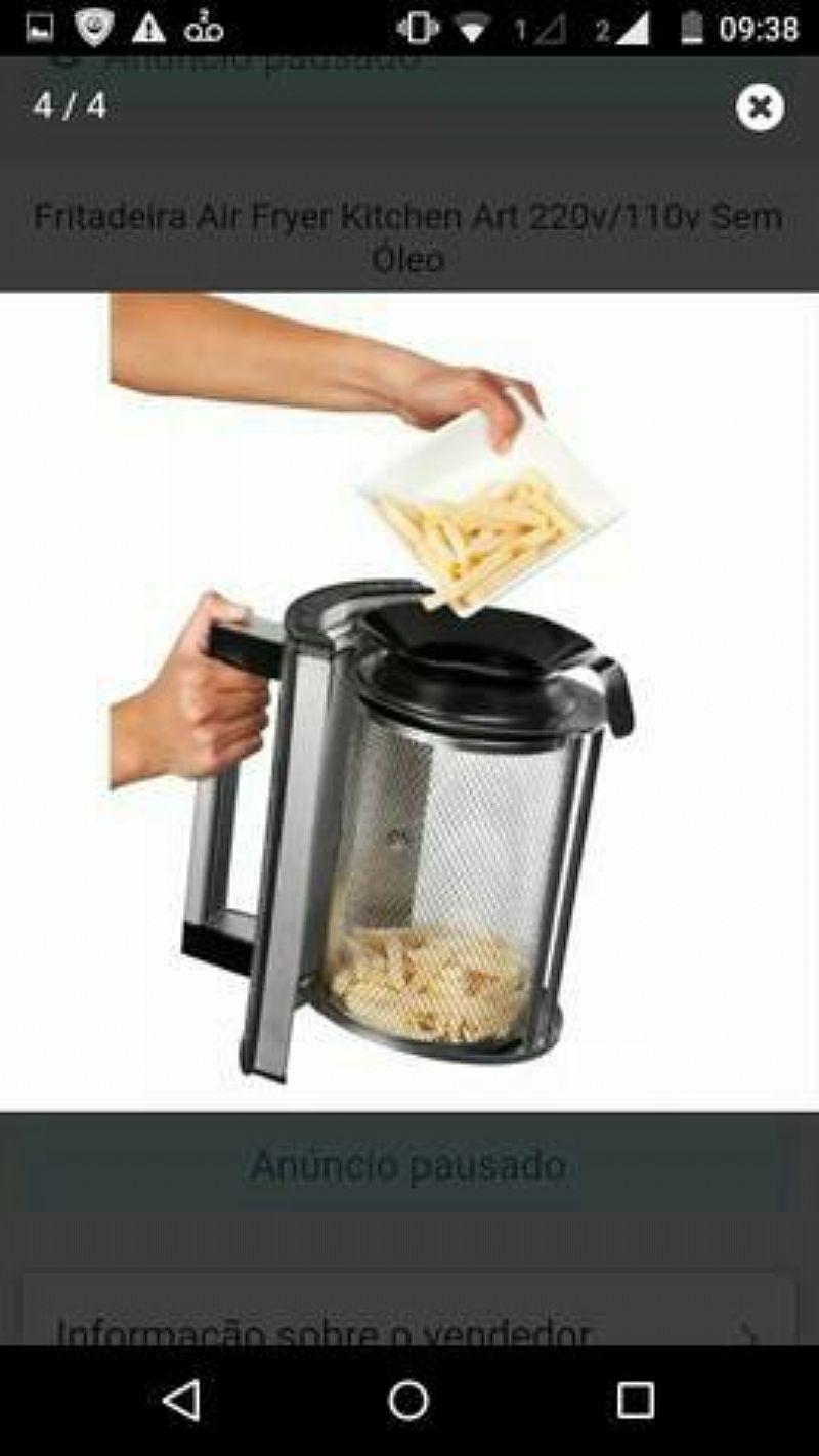 Fritadeira eletrica sem oleo Kitchen art