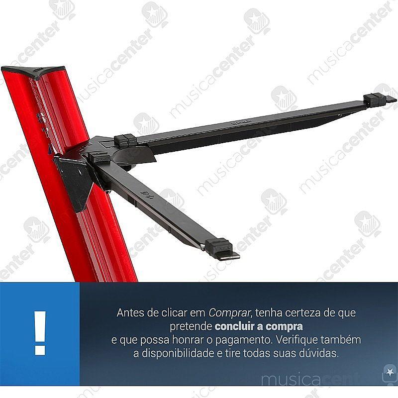 Suporte Para Teclado Stay Slim 1100/1 Aluminio Vermelho