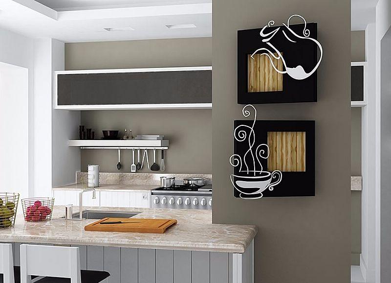 Quadro Adorno Para Cozinha Cafe Em Escultura De Mdf Vazado