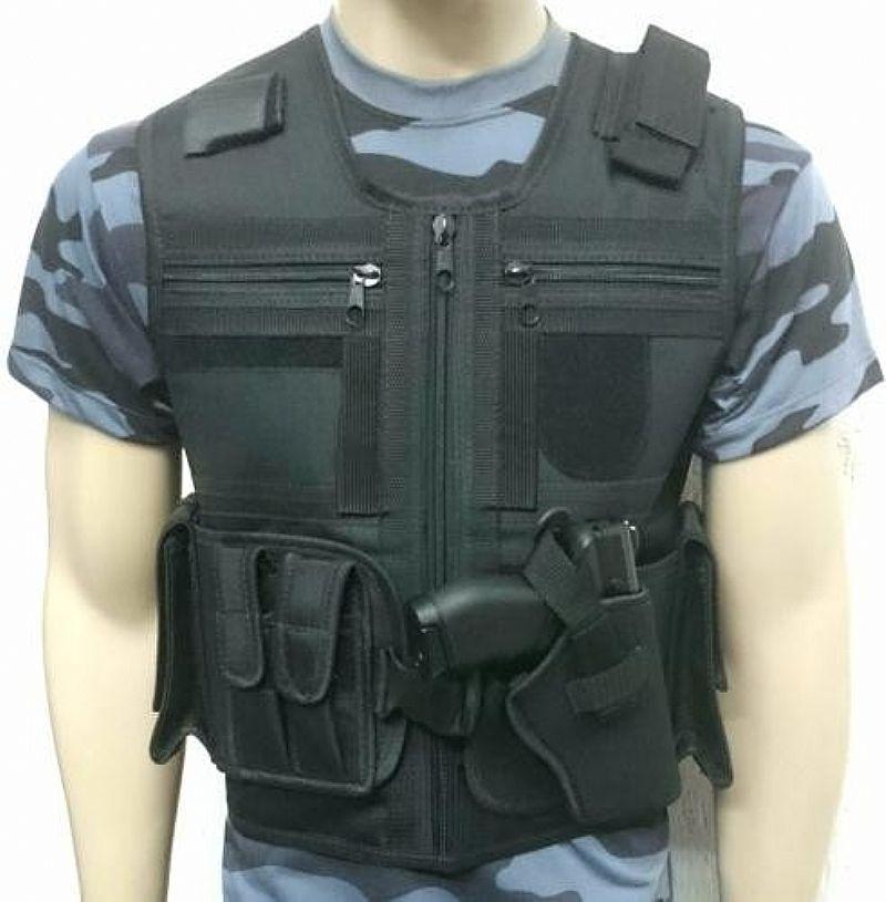 Colete Tatico Policia Militar - Civil Paintball - Seguranca