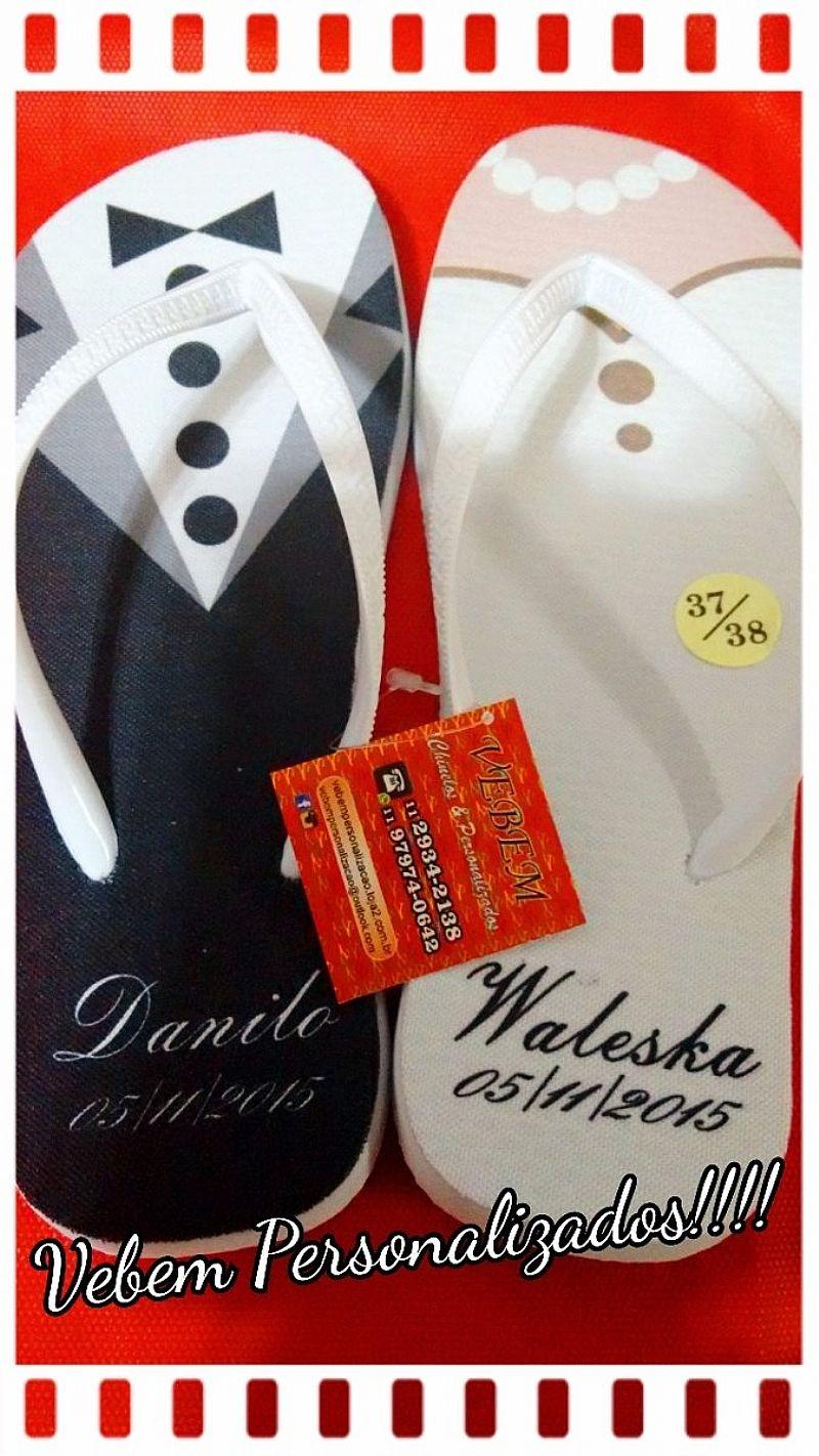 Kit De Chinelos Personalizados Com Frete Gratis!!!