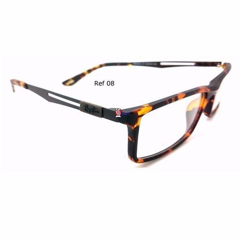 59fb817e9 ... Foto 2 Armacao Óculos De Grau Ray Ban 8452 Haste Titanio