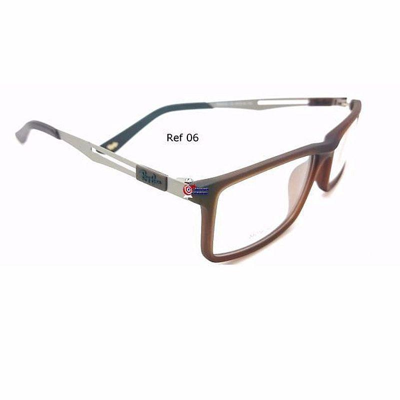 028db73fd ... Foto 2 haste Ray ban 8452 titanio armacao óculos masculino feminino