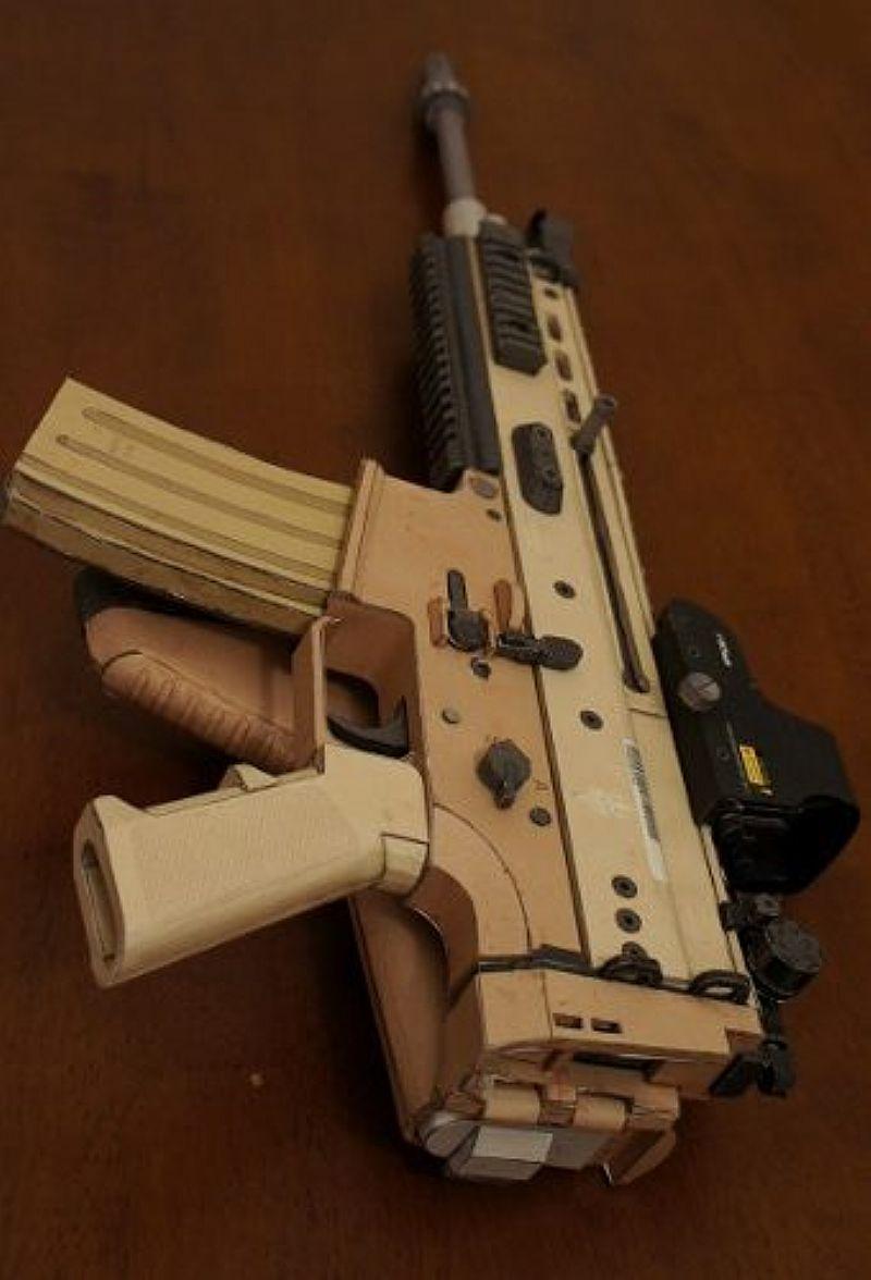 Projeto Scar-l Papercraft Airsoft- Armas De Papel