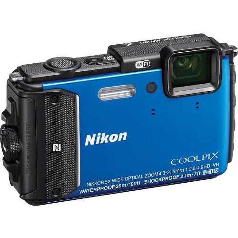 Nikon Coolpix Camera Digital Aw130 16mp - Azul